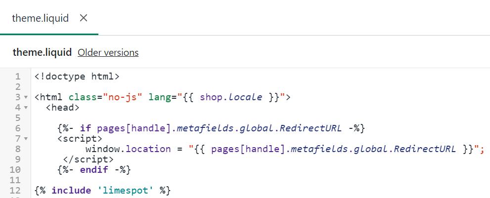 Shopify bulk editor interface